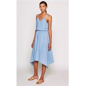 Joie NWT Hepzibah Cotton Dress in French Chambray